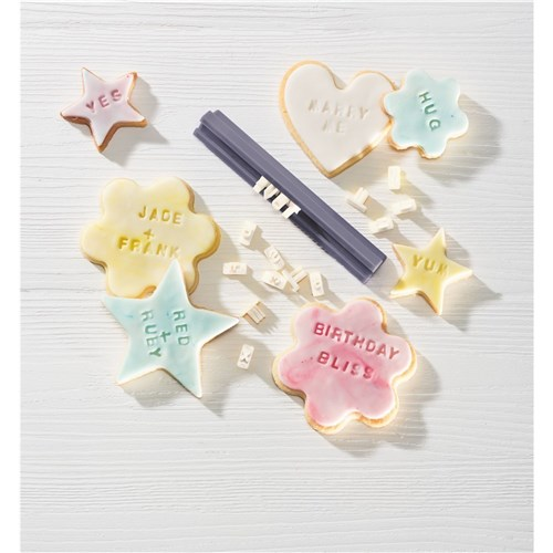 Soffritto Professional Bake Cookie Letter Stamp