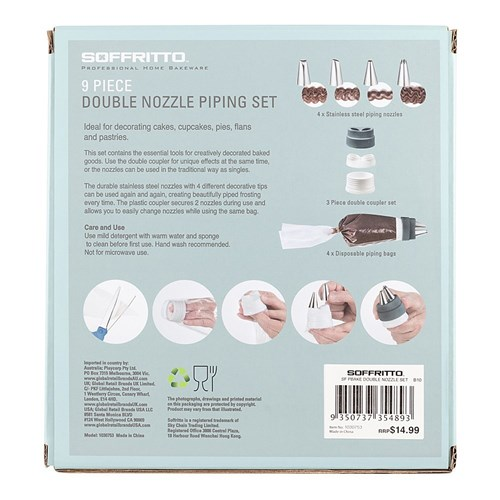 Soffritto Professional Bake Double Nozzle Set