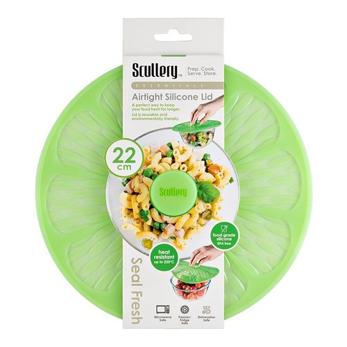 Scullery Essentials Airtight Silicone Lid 22cm Lime Green