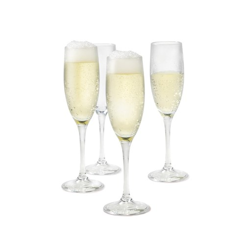 Cellar By The Pool 4 Piece Shatterproof Outdoor Champagne Flute Set Clear