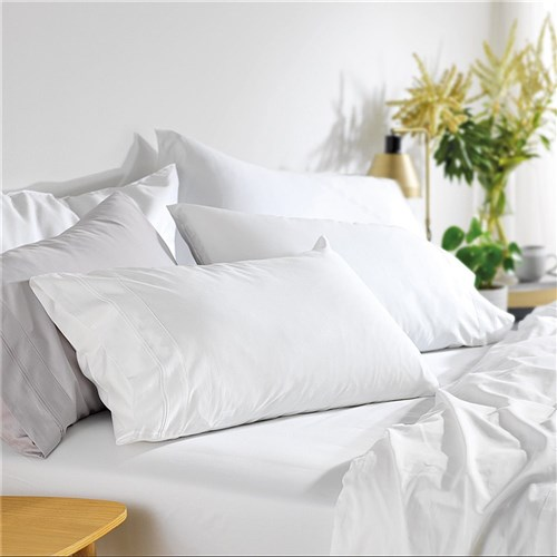 MyHouse Riley Bamboo Cotton Super King Bed Sheet Set White