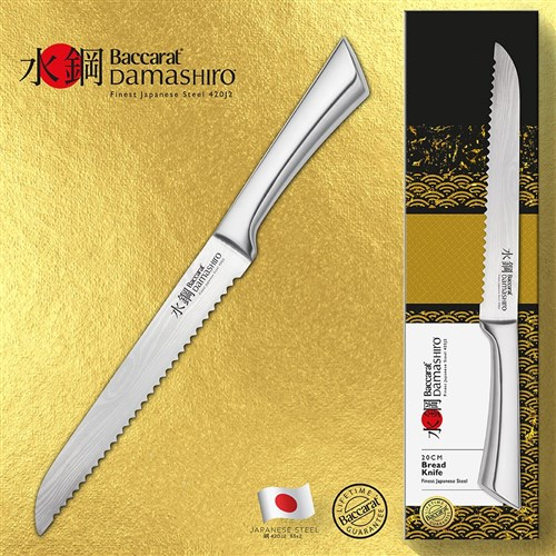 Baccarat Damashiro Bread Knife 20cm