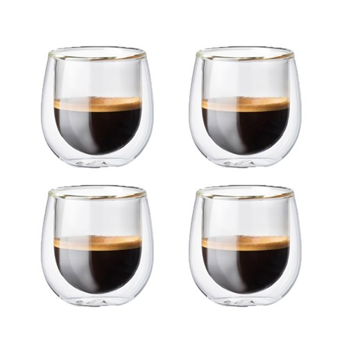 Baccarat Barista Cafe Double Wall Espresso Glass 90ml Set of 4