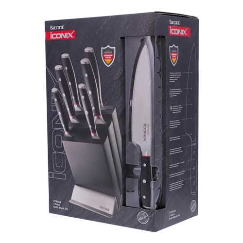 Baccarat iconiX Straub Knife Block 7 Piece