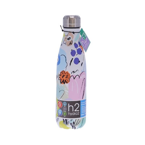h2 hydro2 Quench Suma Double Wall Stainless Steel Water Bottle 500ml Bloom